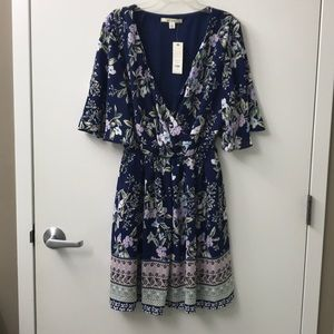 Franchesca's Juniors Floral Dress | Size L